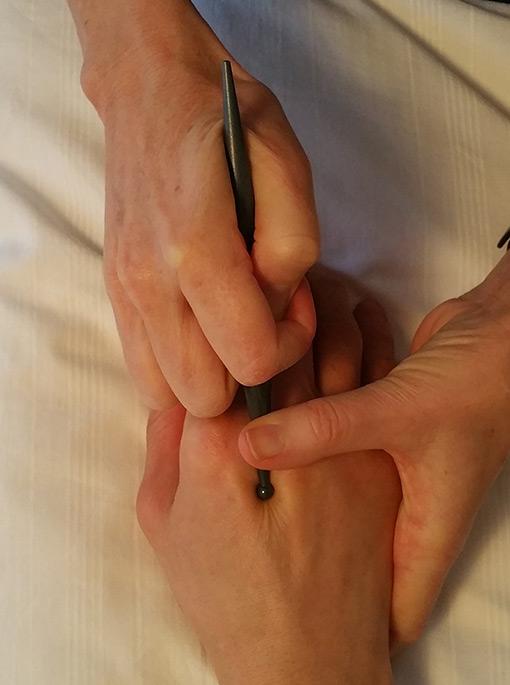 Zonterapi hand